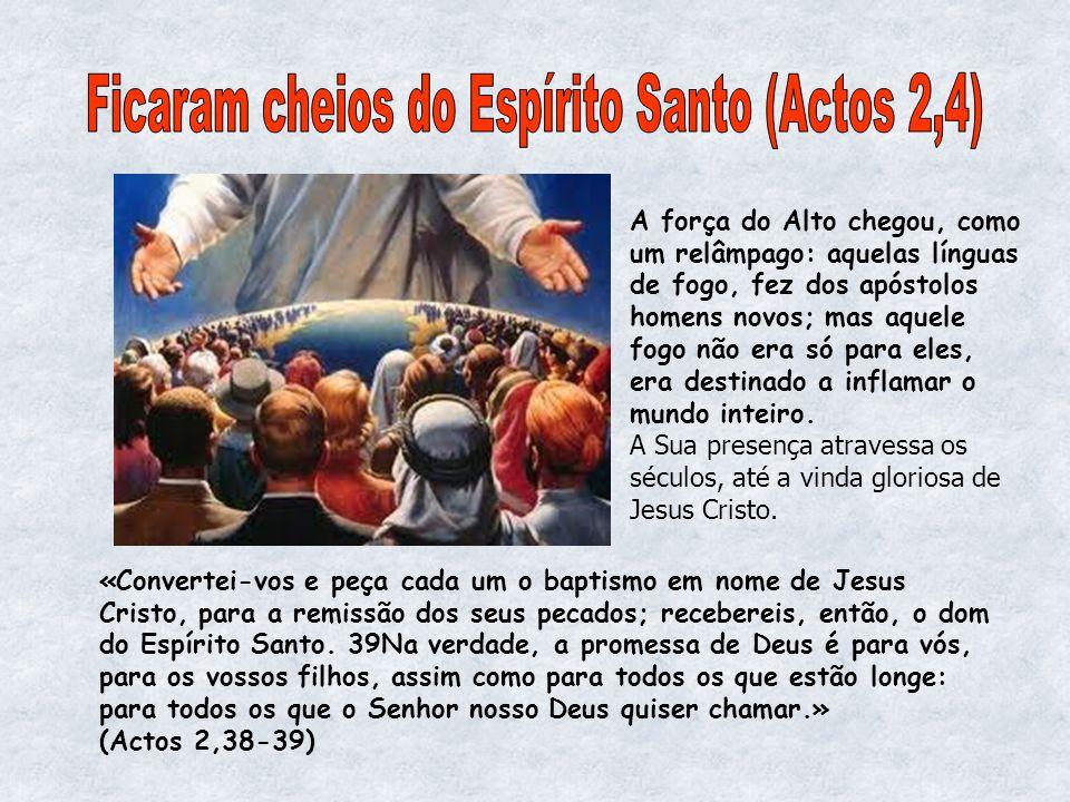 Ficaram cheios do Espírito Santo (Actos 2,4)