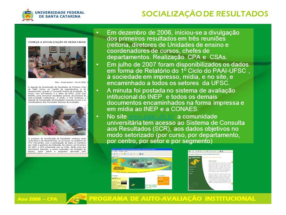 SOCIALIZAÇÃO DE RESULTADOS