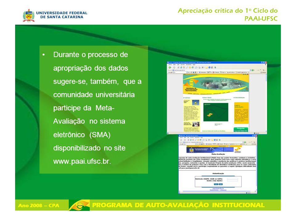 Apreciação crítica do 1º Ciclo do PAAI-UFSC