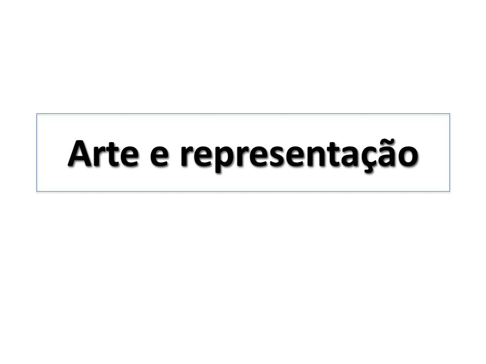 Arte e representação