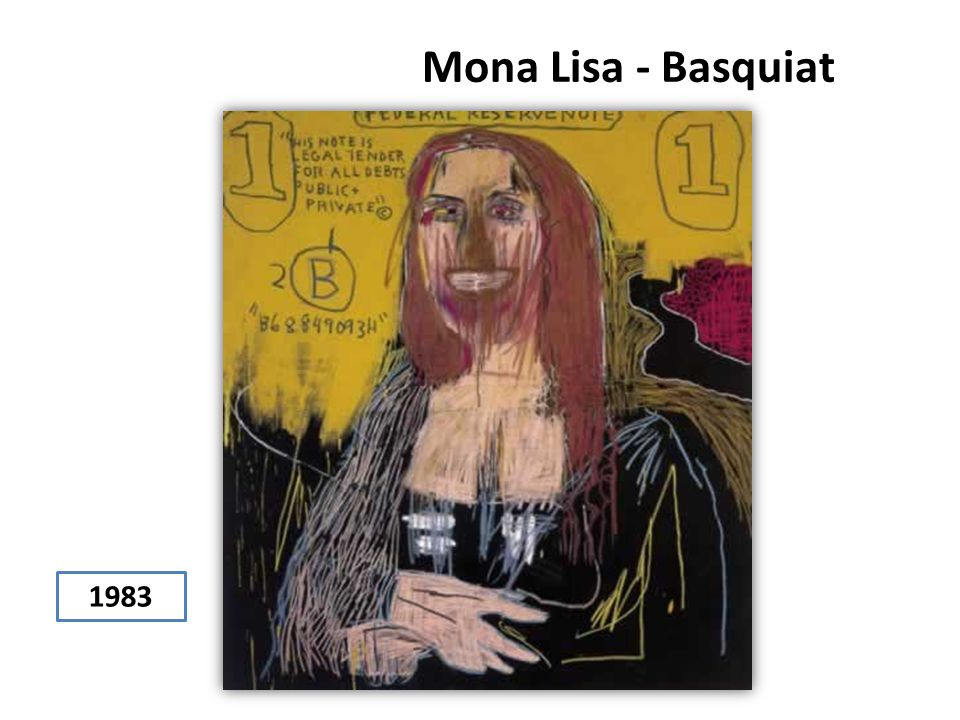 Mona Lisa - Basquiat 1983