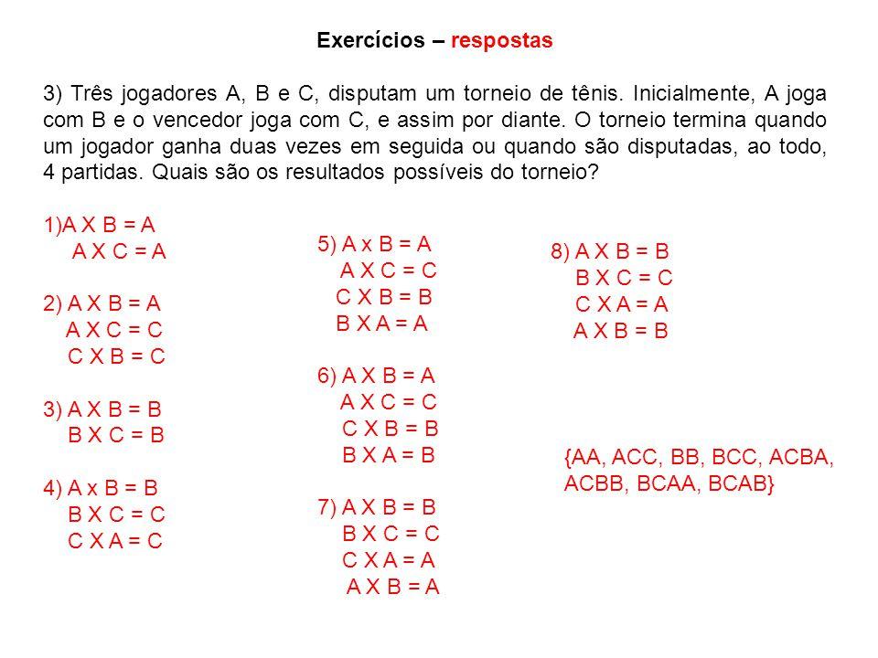 Exercícios – respostas
