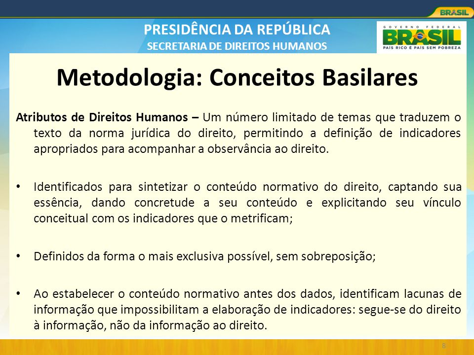 Metodologia: Conceitos Basilares