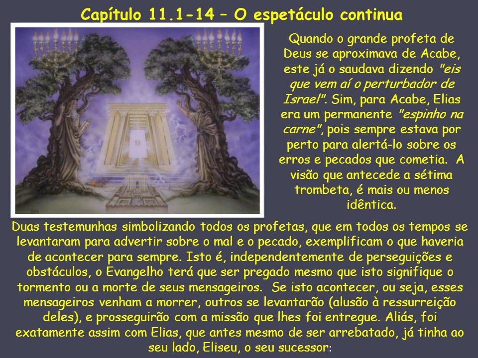 Capítulo 11.1-14 – O espetáculo continua