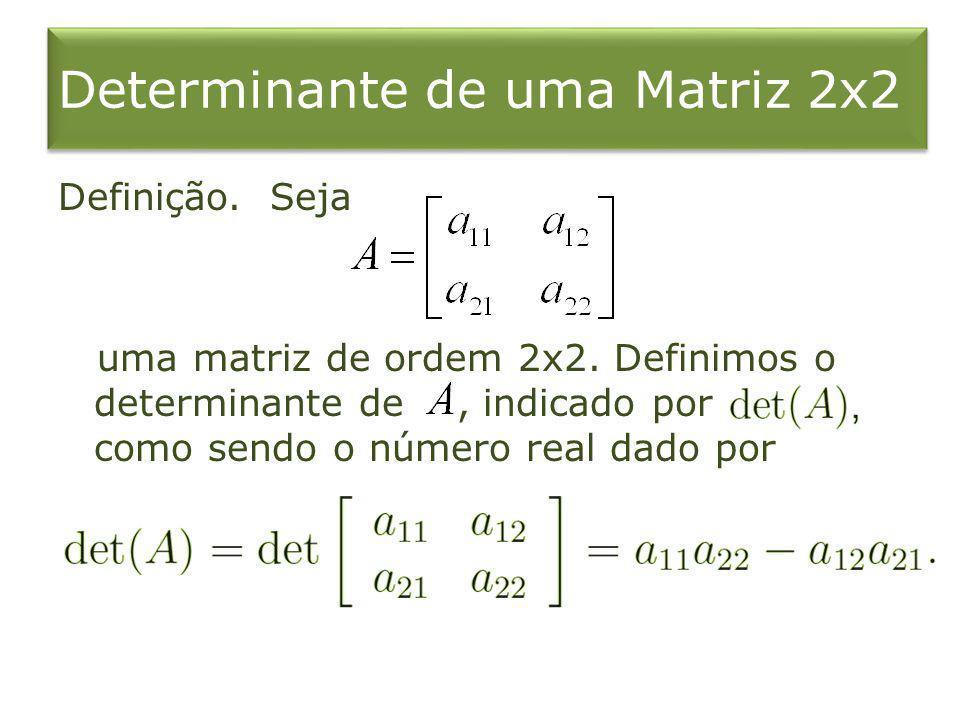 Determinante de uma Matriz 2x2