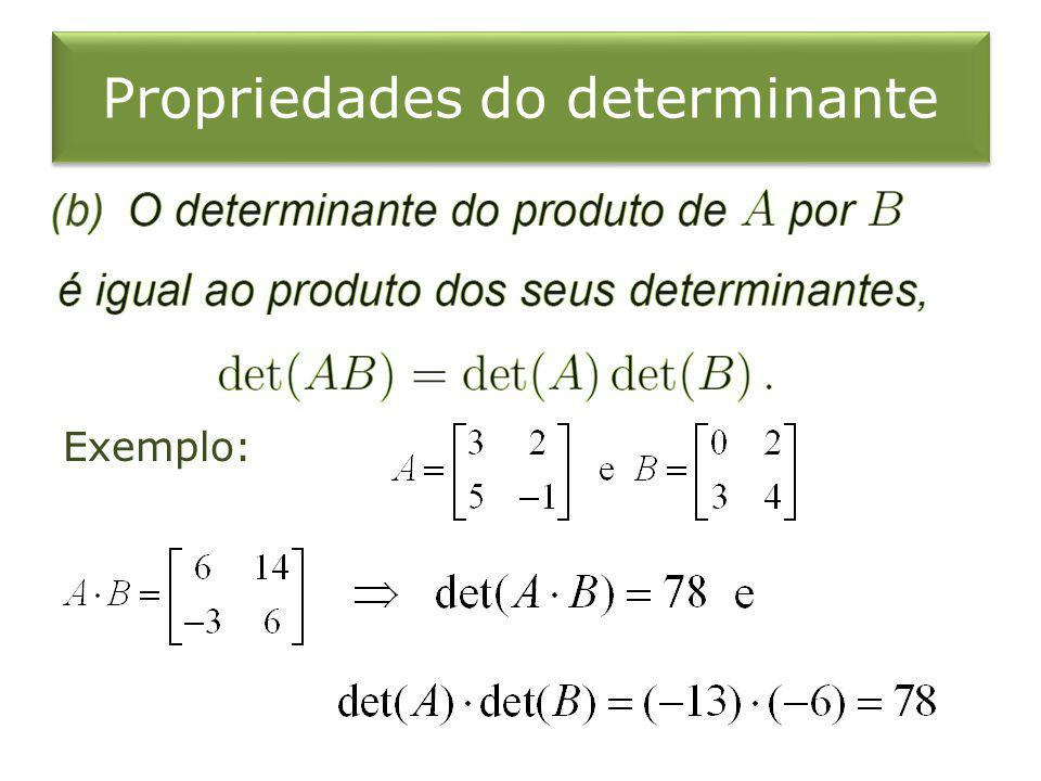 Propriedades do determinante