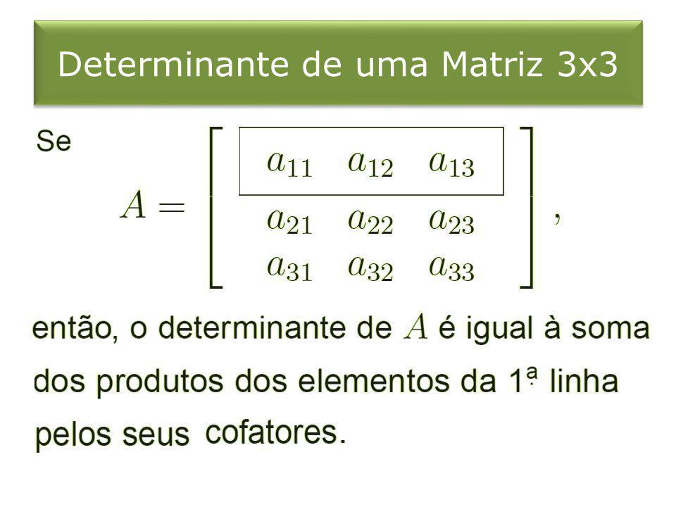 Determinante de uma Matriz 3x3
