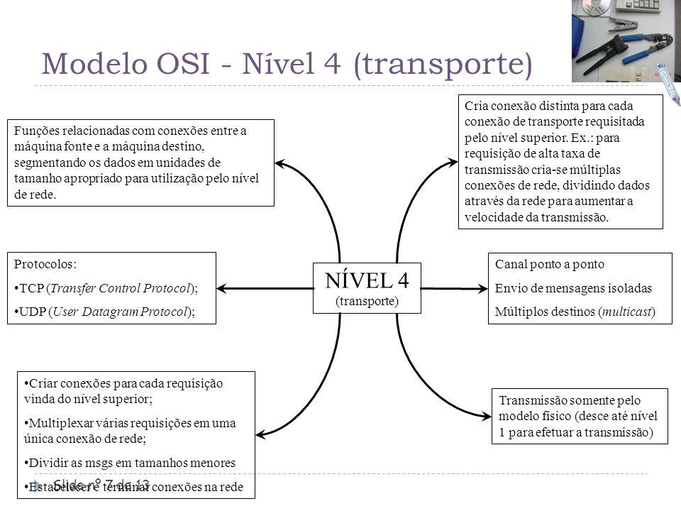 Modelo OSI - Nível 4 (transporte)