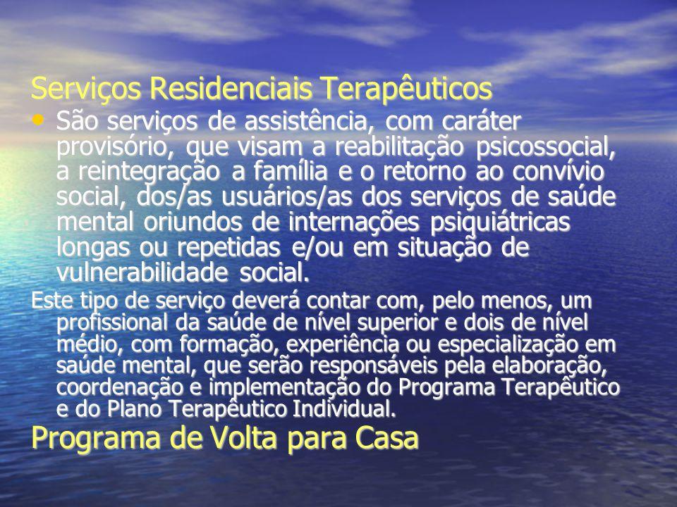Serviços Residenciais Terapêuticos