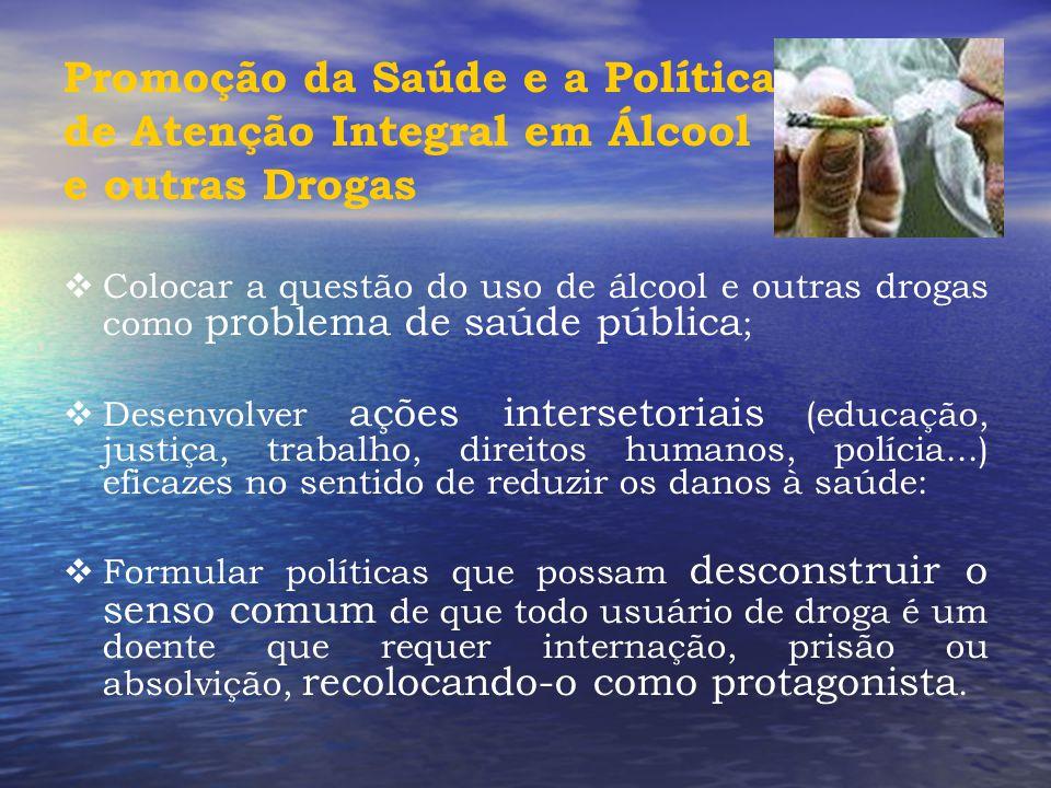 Promoção da Saúde e a Política de Atenção Integral em Álcool