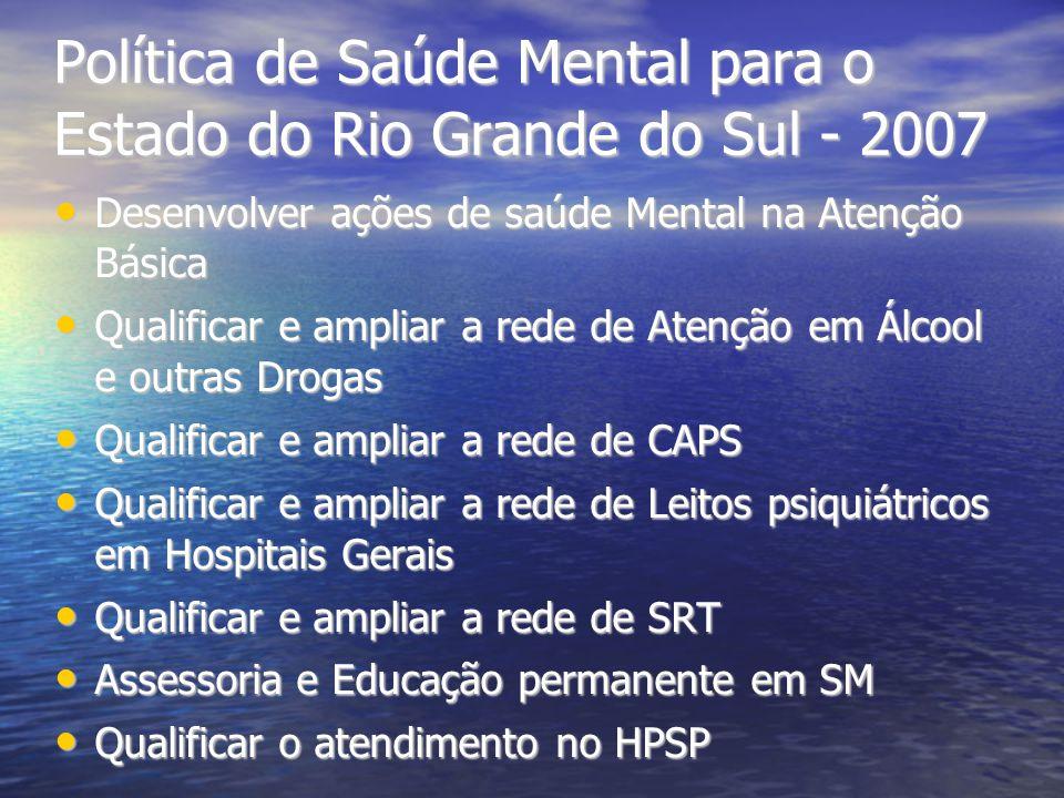 Política de Saúde Mental para o Estado do Rio Grande do Sul - 2007