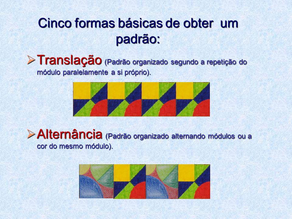 Cinco formas básicas de obter um padrão: