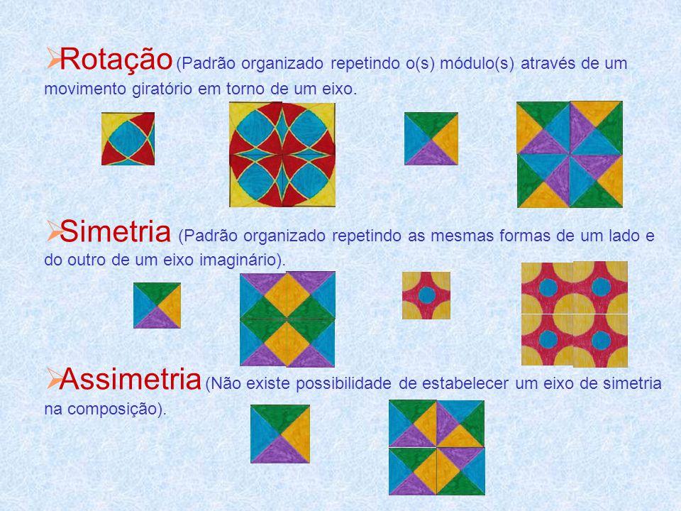 Agostinho E.V.T. Ano 2001/02. Rotação (Padrão organizado repetindo o(s) módulo(s) através de um movimento giratório em torno de um eixo.