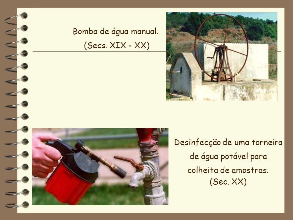 Desinfecção de uma torneira de água potável para
