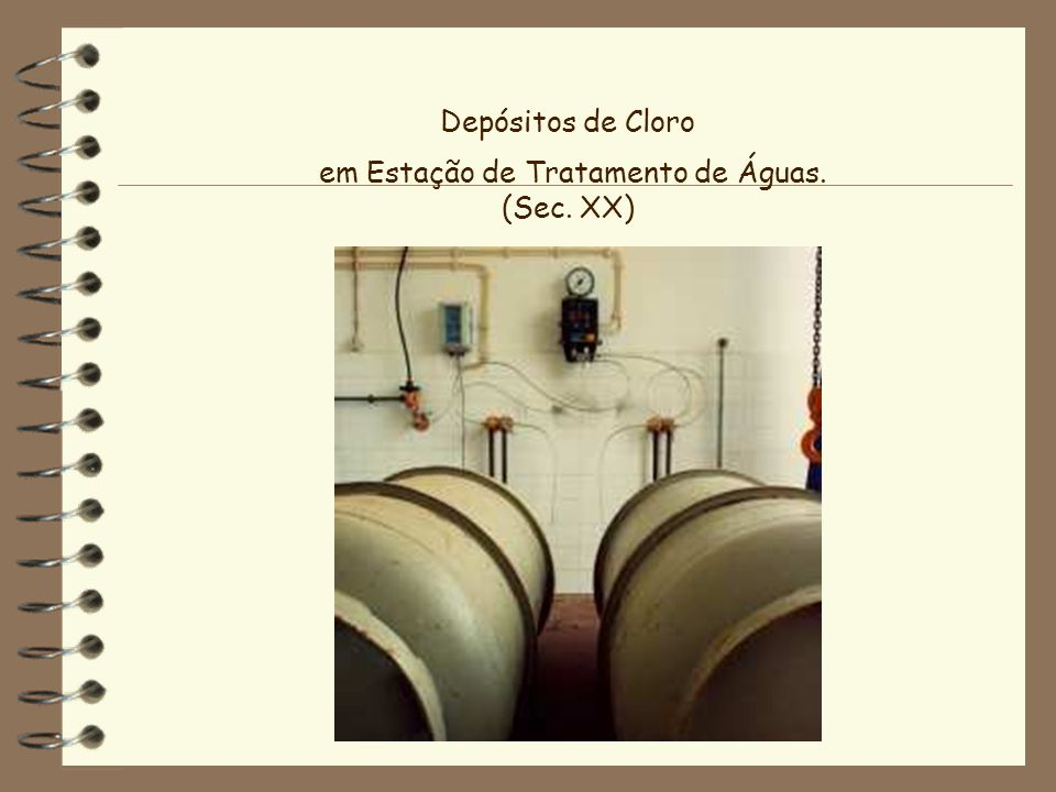 em Estação de Tratamento de Águas. (Sec. XX)