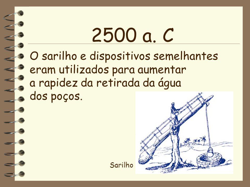 2500 a. C O sarilho e dispositivos semelhantes