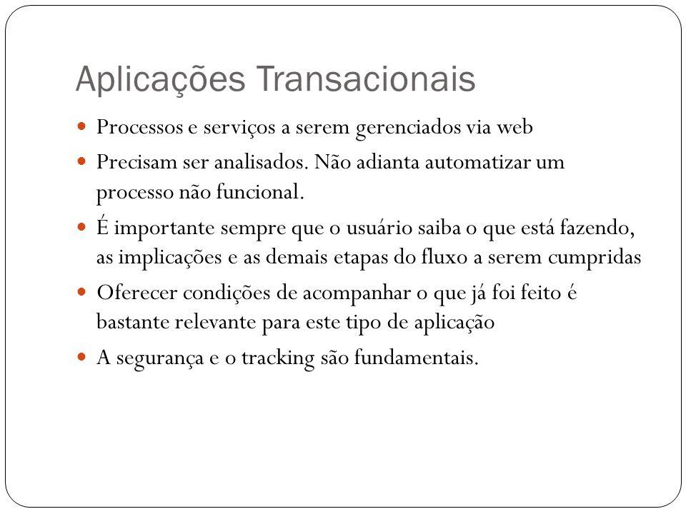 Aplicações Transacionais