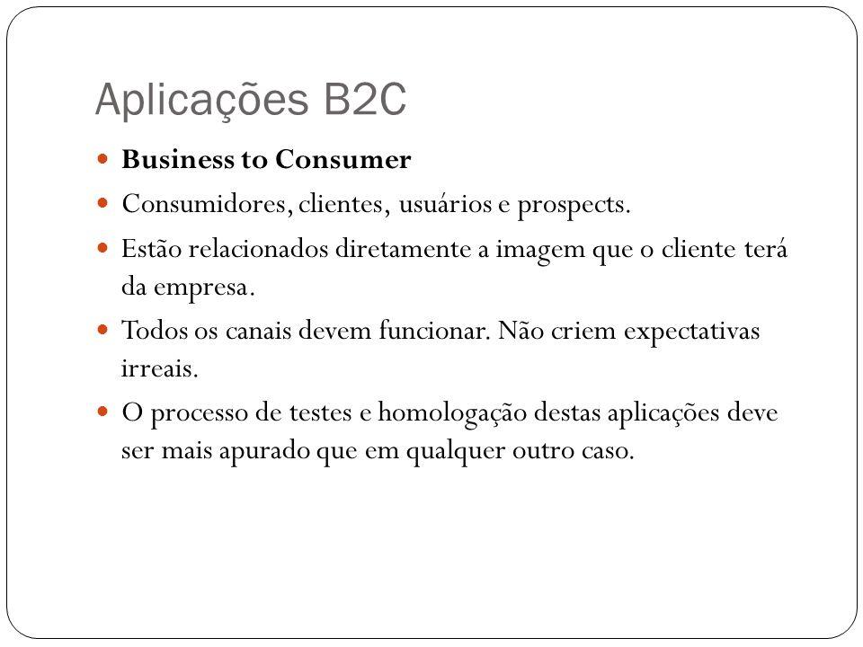 Aplicações B2C Business to Consumer