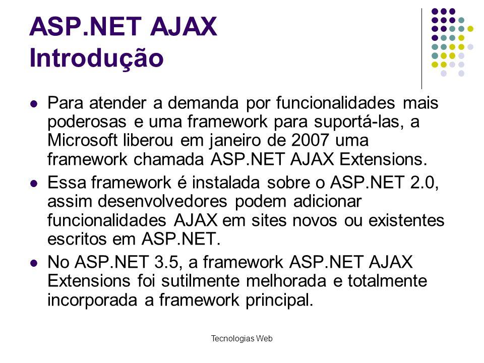 ASP.NET AJAX Introdução