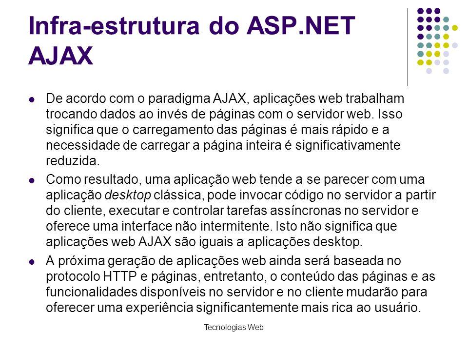 Infra-estrutura do ASP.NET AJAX