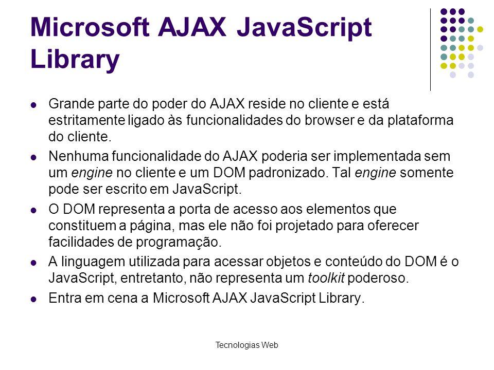 Microsoft AJAX JavaScript Library