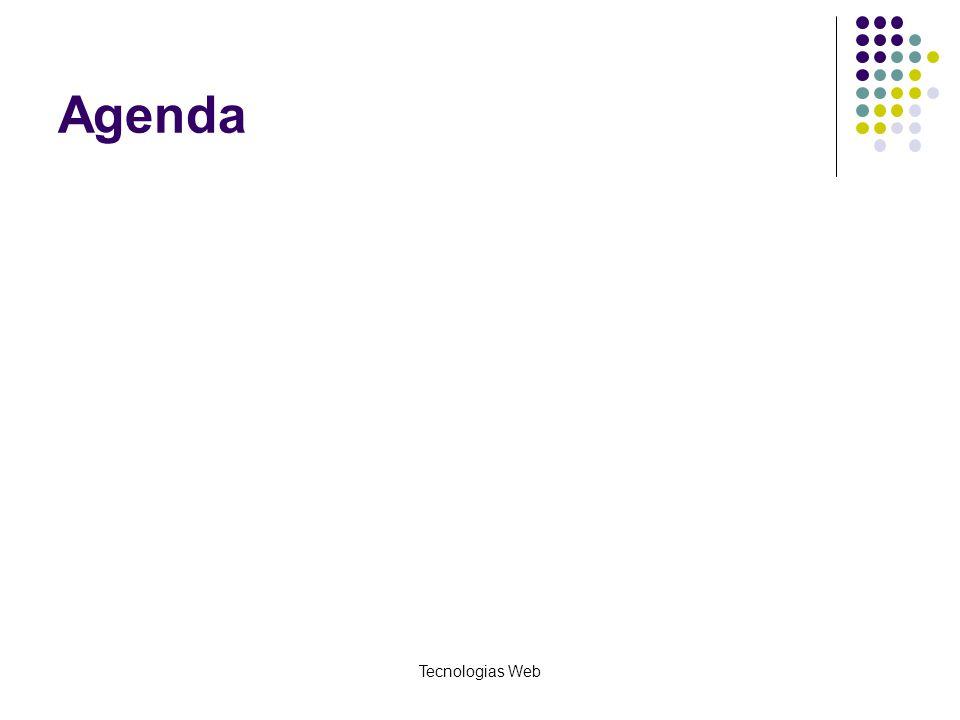 Agenda Tecnologias Web