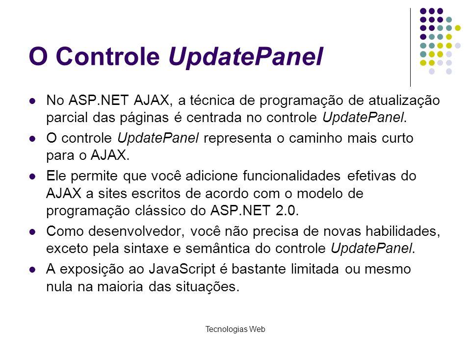 O Controle UpdatePanel