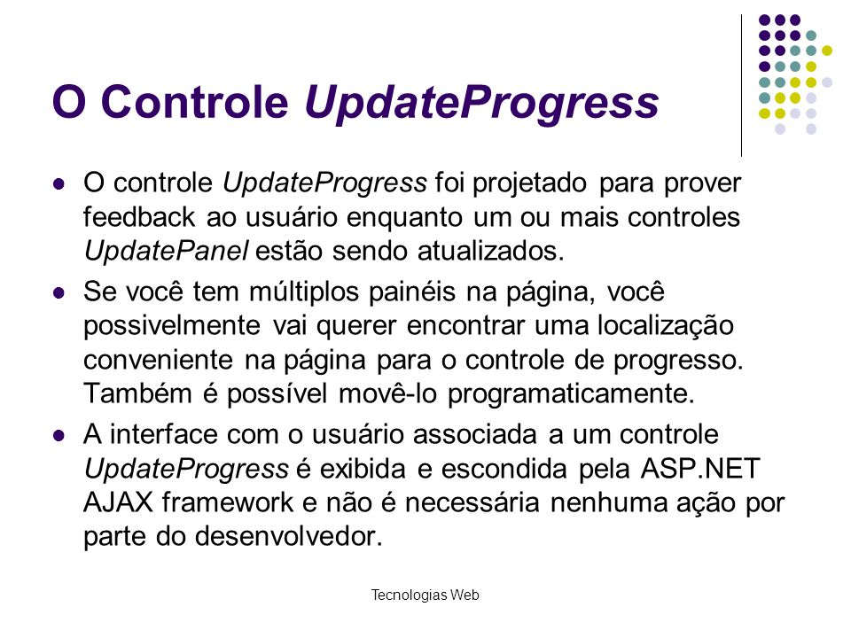 O Controle UpdateProgress