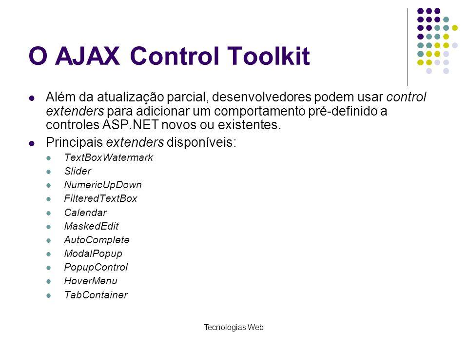 O AJAX Control Toolkit