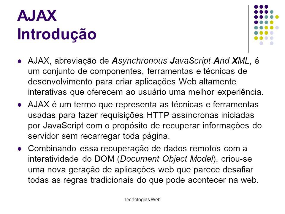 AJAX Introdução