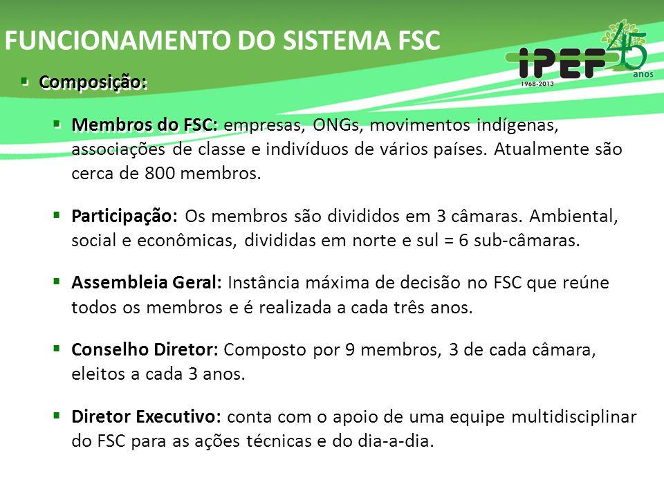 FUNCIONAMENTO DO SISTEMA FSC
