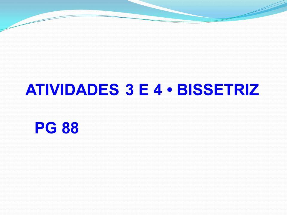 ATIVIDADES 3 E 4 • BISSETRIZ