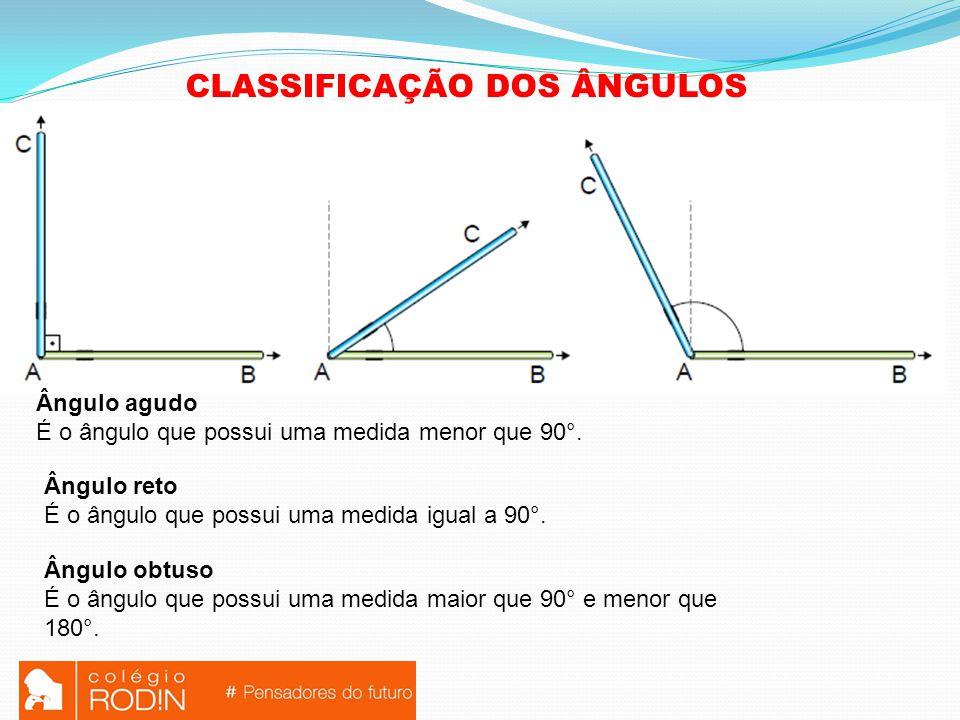 CLASSIFICAÇÃO DOS ÂNGULOS