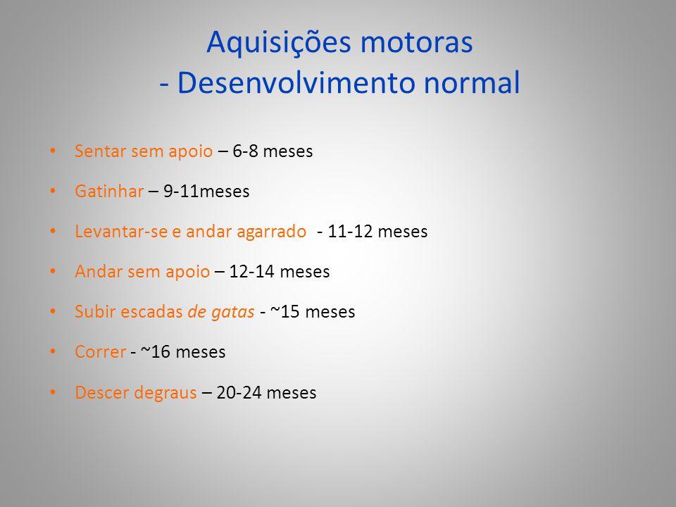Aquisições motoras - Desenvolvimento normal