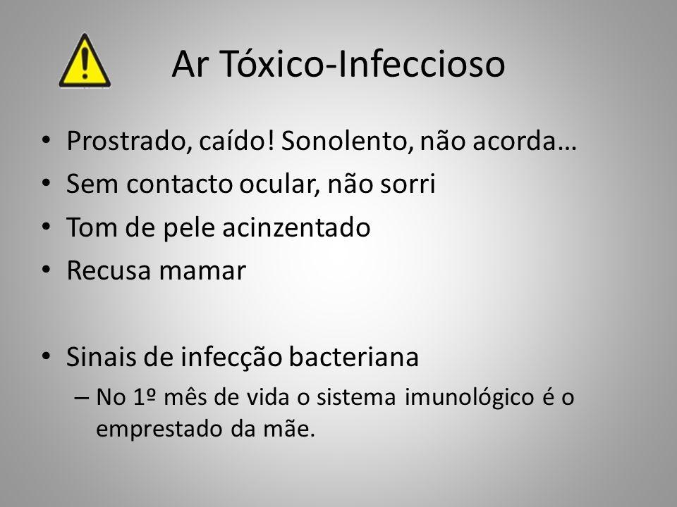 Ar Tóxico-Infeccioso Prostrado, caído! Sonolento, não acorda…