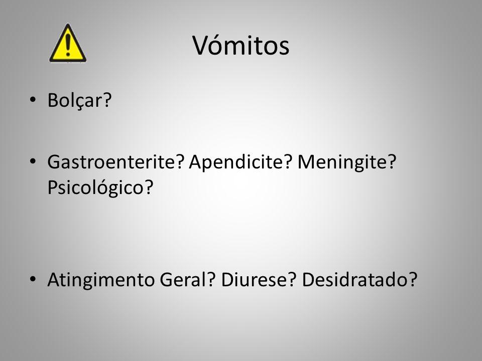 Vómitos Bolçar Gastroenterite Apendicite Meningite Psicológico