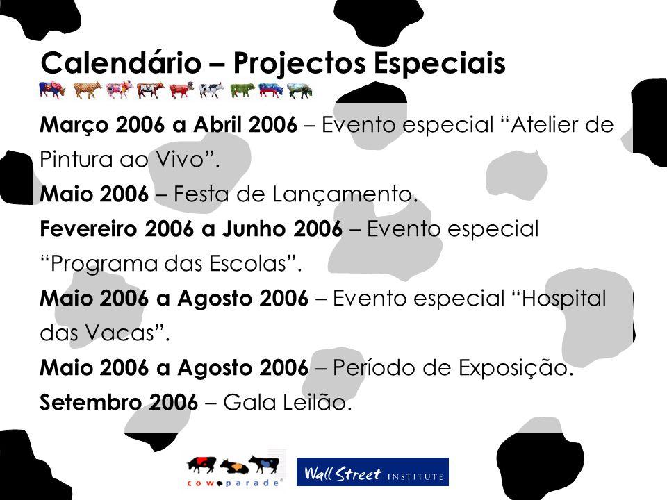 Calendário – Projectos Especiais