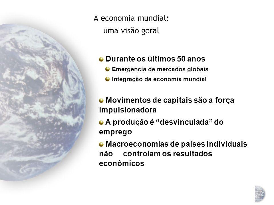 A economia mundial: uma visão geral