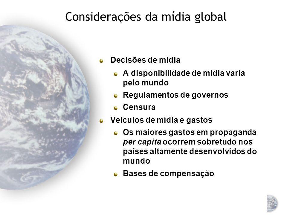 Considerações da mídia global