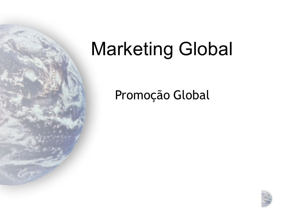 Marketing Global Promoção Global