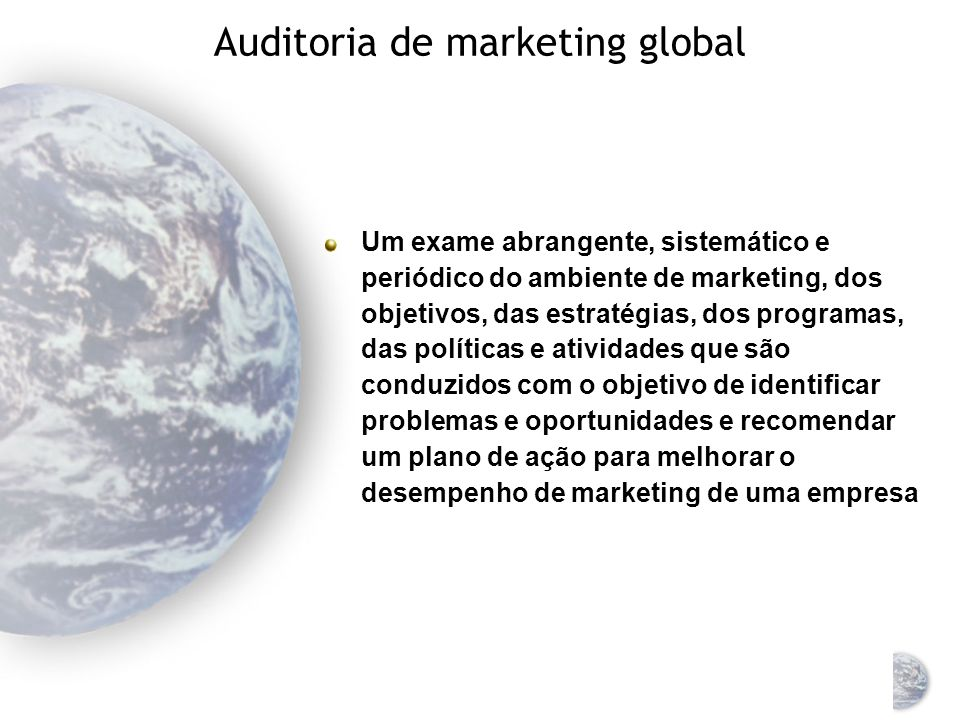 Auditoria de marketing global