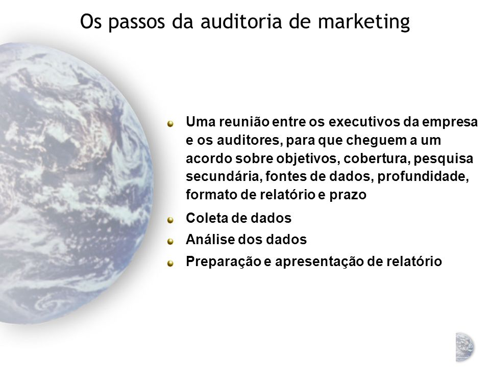 Os passos da auditoria de marketing