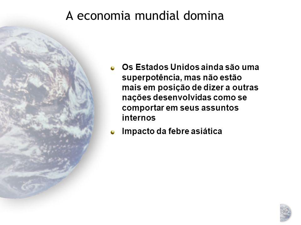 A economia mundial domina