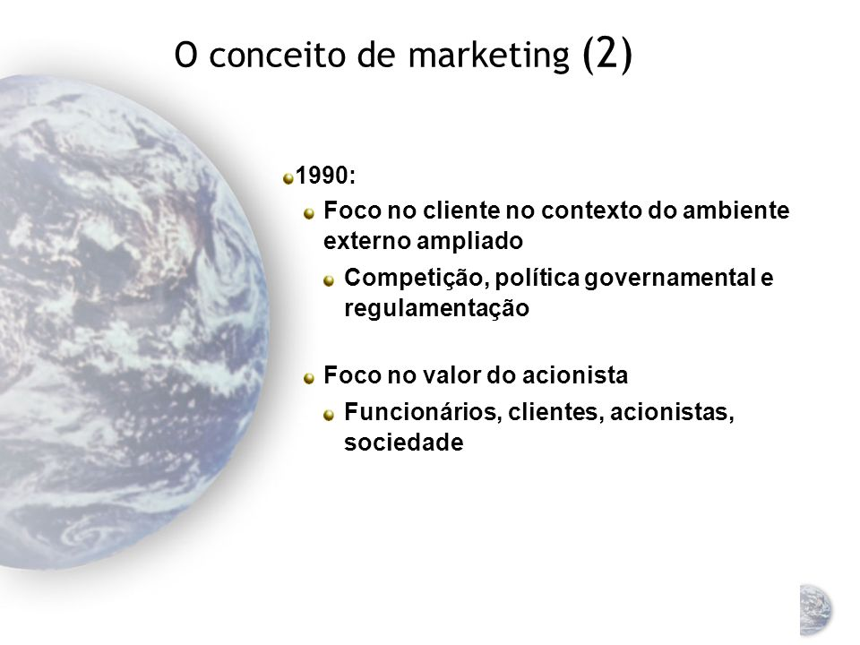 O conceito de marketing (2)