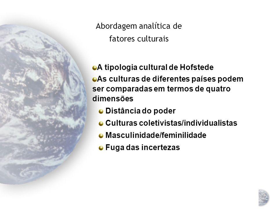 Abordagem analítica de fatores culturais