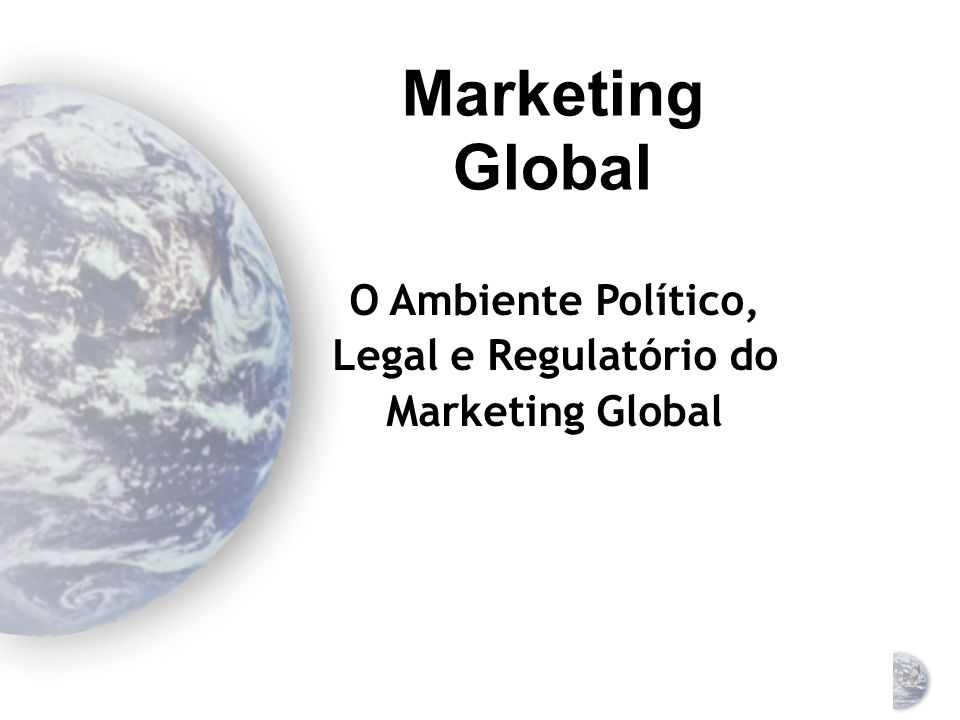 Legal e Regulatório do Marketing Global