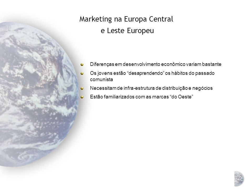 Marketing na Europa Central e Leste Europeu