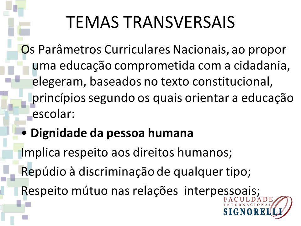 TEMAS TRANSVERSAIS