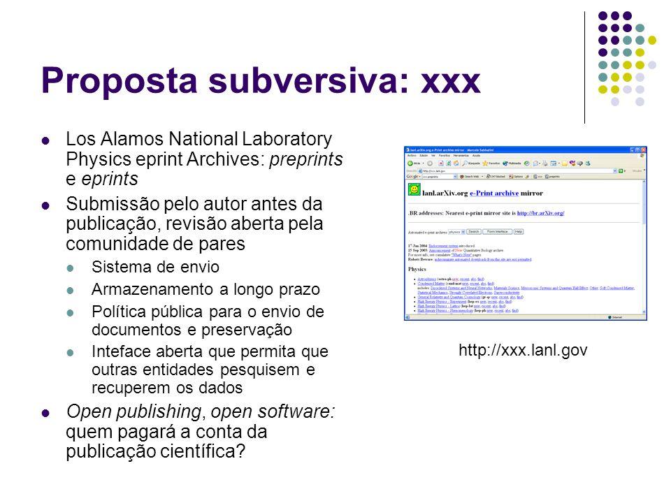 Proposta subversiva: xxx