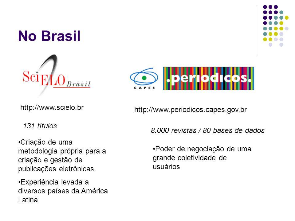 No Brasil http://www.scielo.br http://www.periodicos.capes.gov.br